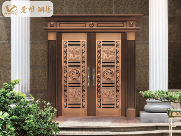 2019年爱唯铜艺别墅入户铜门的款式搭配,总有一款适合您
