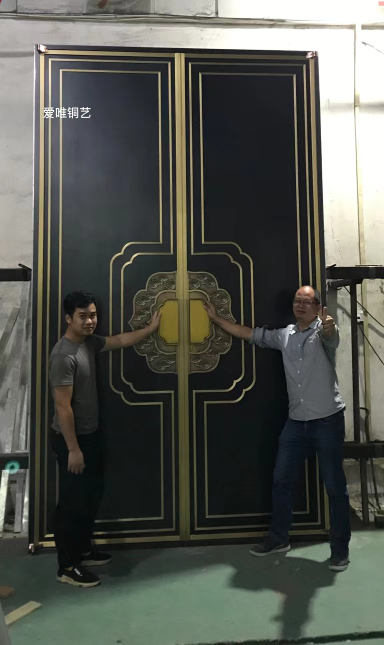 新中式风格铜门 (5)
