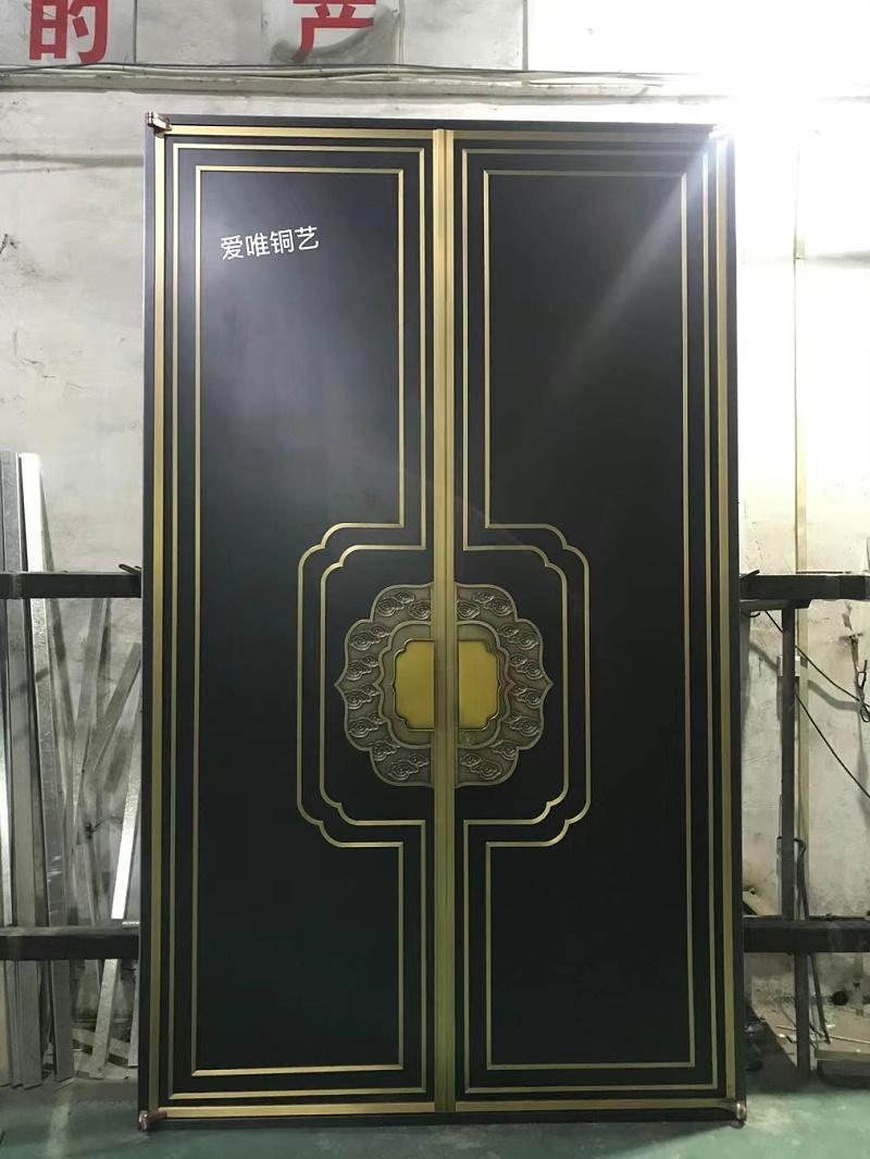 新中式风格铜门 (1)