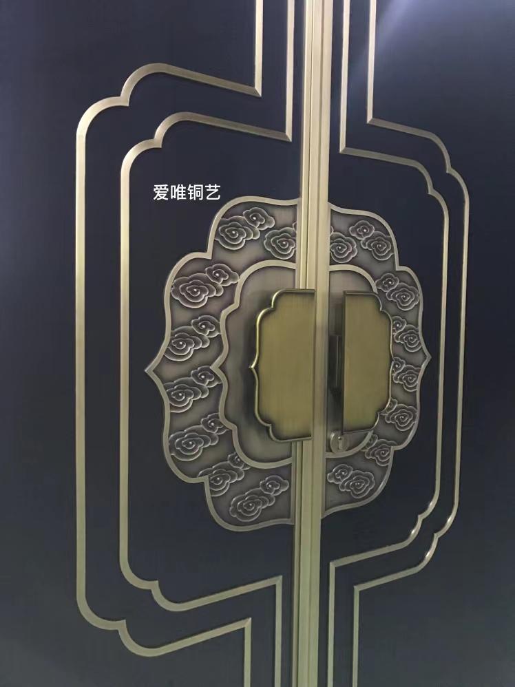 新中式风格铜门 (2)