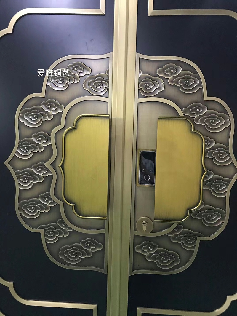新中式风格铜门 (3)