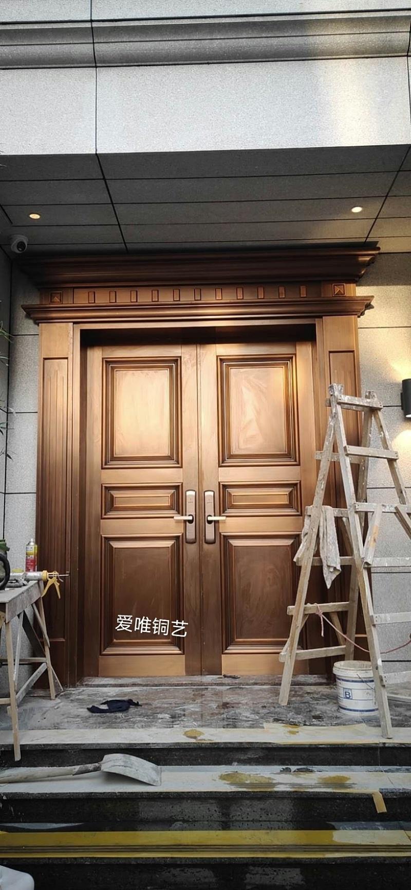 金沙洲别墅铜门 (1)