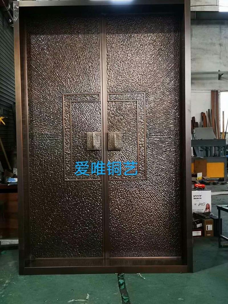 湖南张总别墅铜门 (6)