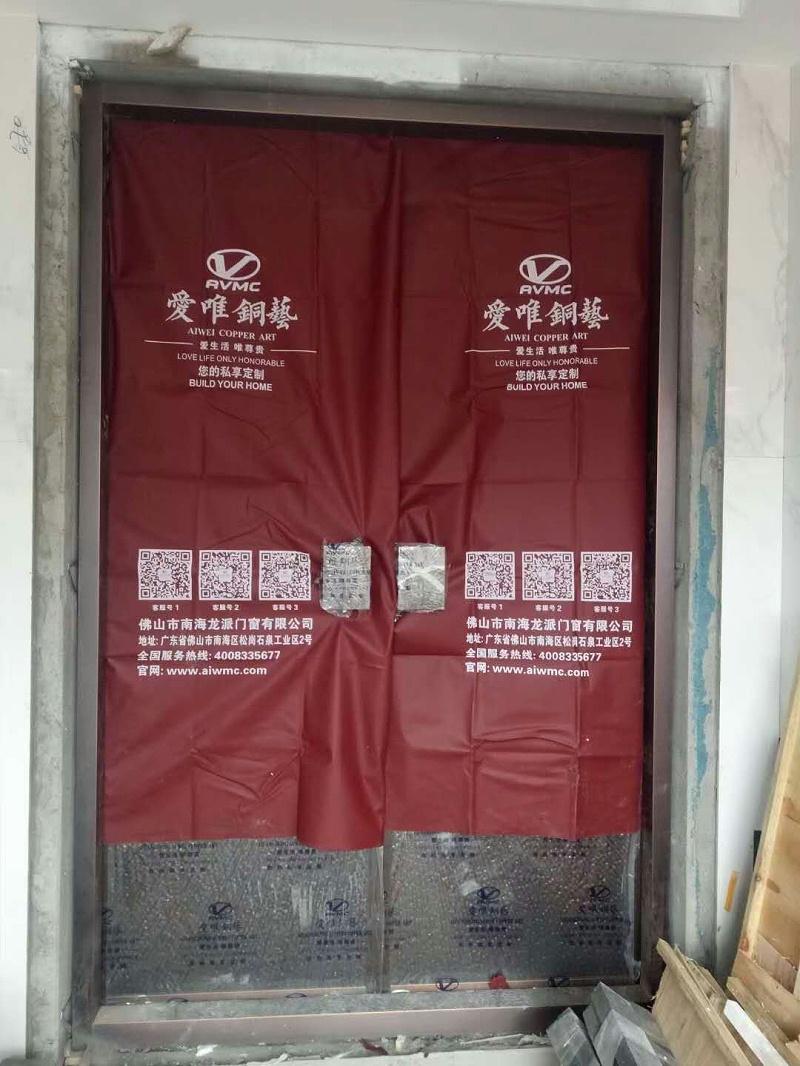 湖南张总别墅铜门 (1)