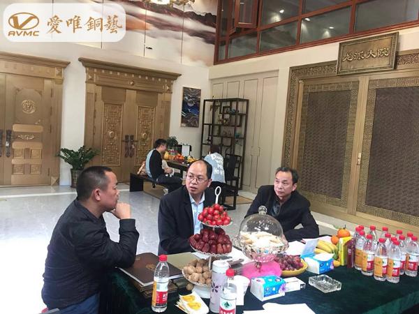 热烈祝贺铜门生产厂家爱唯铜艺进驻天津市场