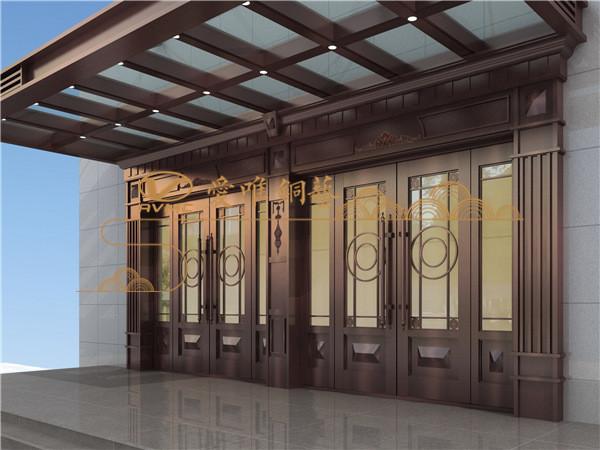 爱唯铜门银行铜门