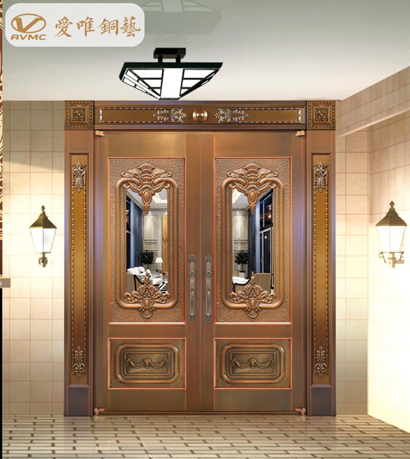 爱唯铜门、别墅入户门