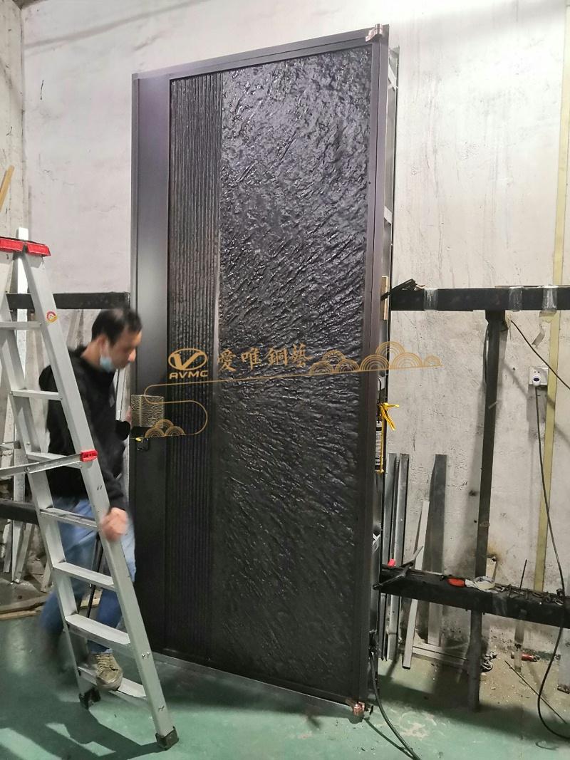 别墅铜门调试 (3)