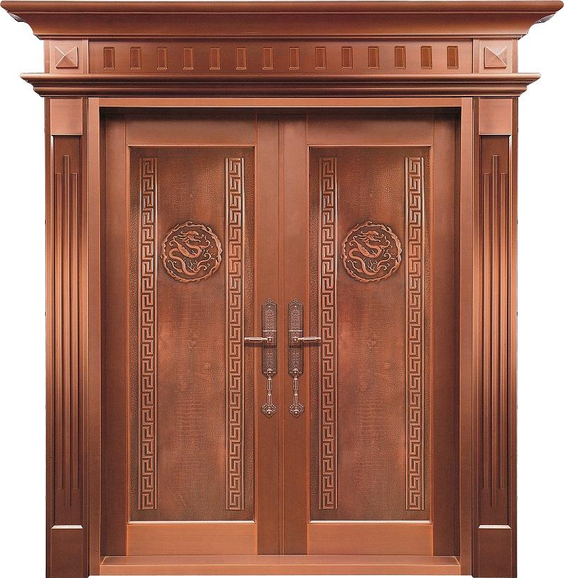 爱唯铜门对开门-龙腾四海