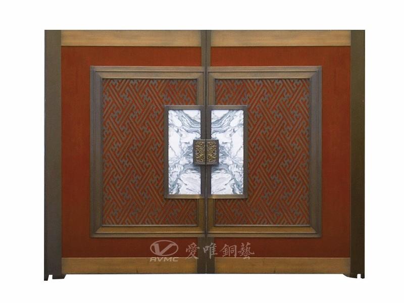 爱唯铜门-别墅入户铜门