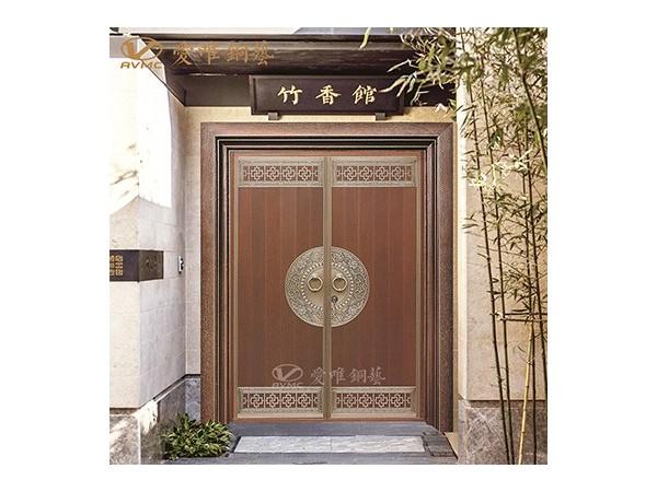 爱唯铜门新中式铜门定制|铜门招商加盟