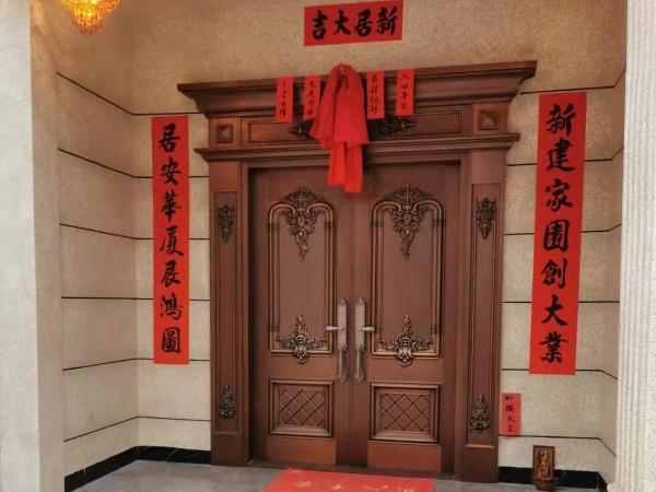 广东铜门厂家爱唯铜艺——清远英德别墅铜门