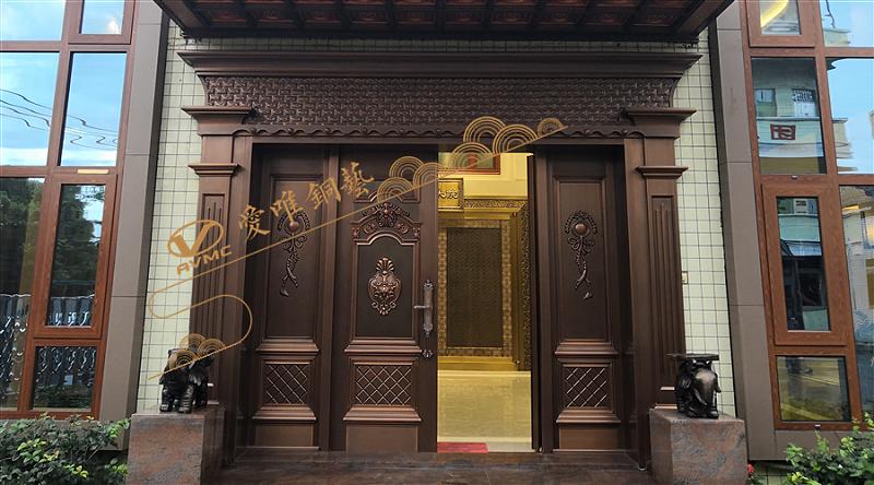 爱唯铜门-四开铜门