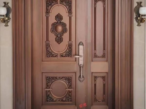 广东佛山铜门厂家爱唯铜艺——禅城入户铜门别墅铜门