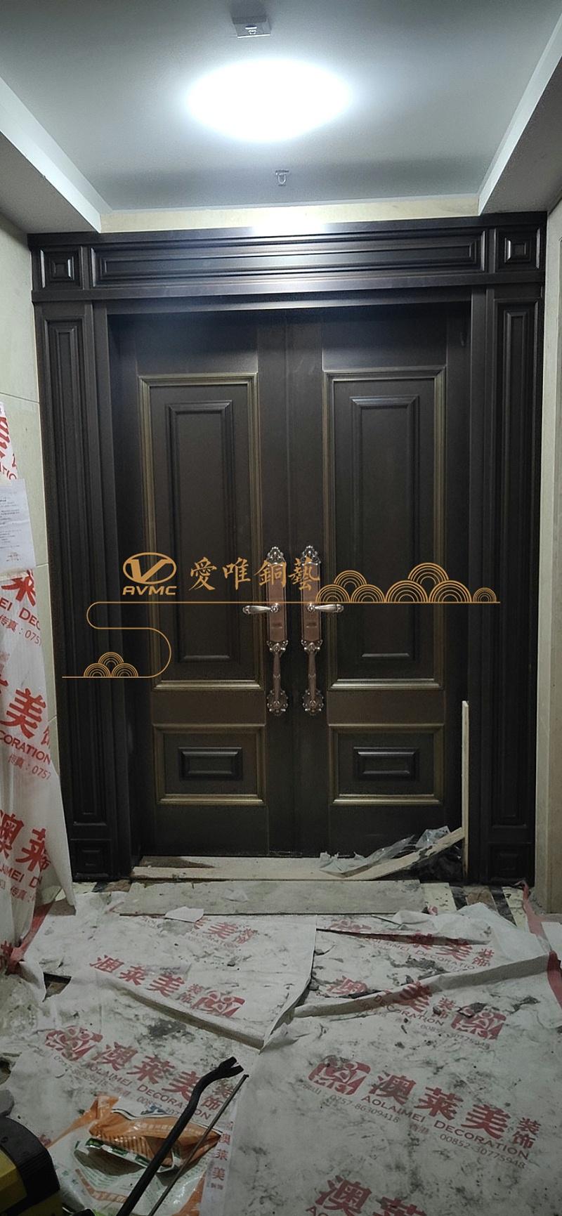 别墅入户铜门 (2)