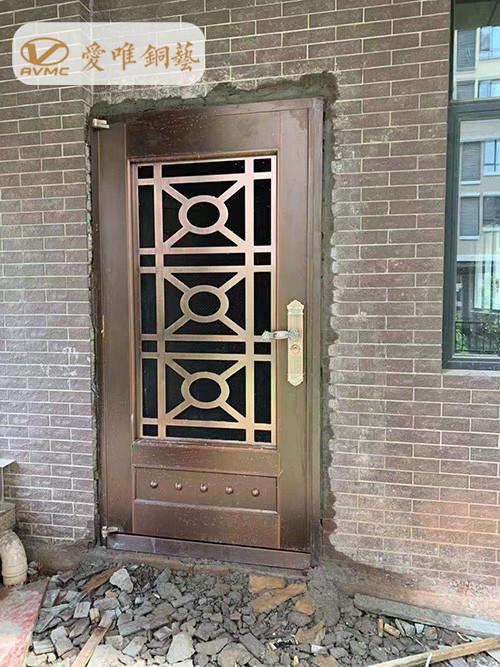爱唯铜艺铜门工程案例