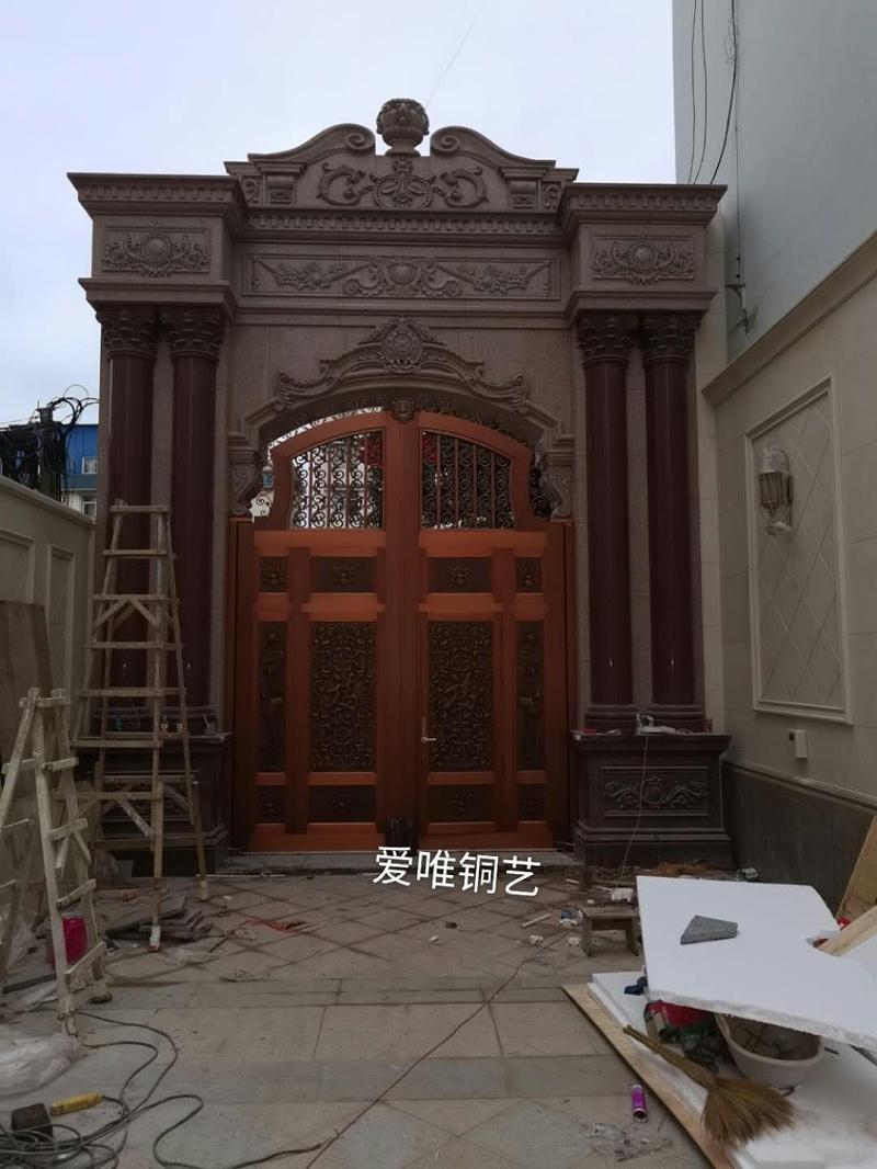 云南别墅庭院铜门 (5)