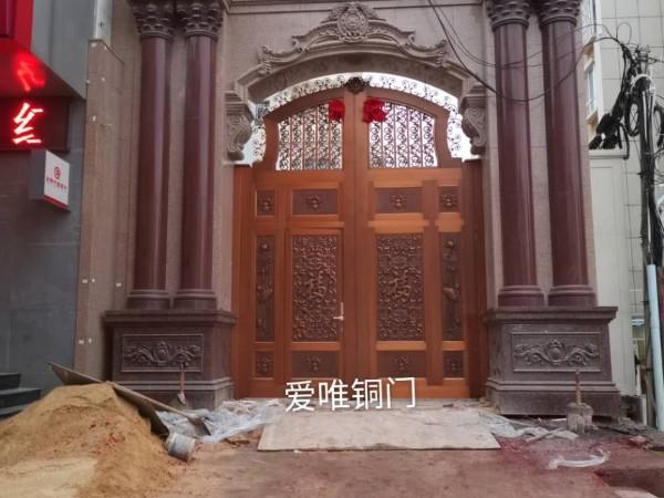 广东爱唯铜艺铜门厂家庭院铜门云南铜门工程