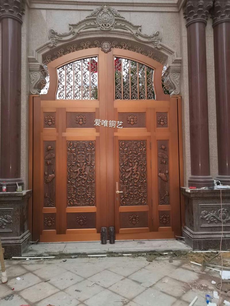 云南别墅庭院铜门 (1)