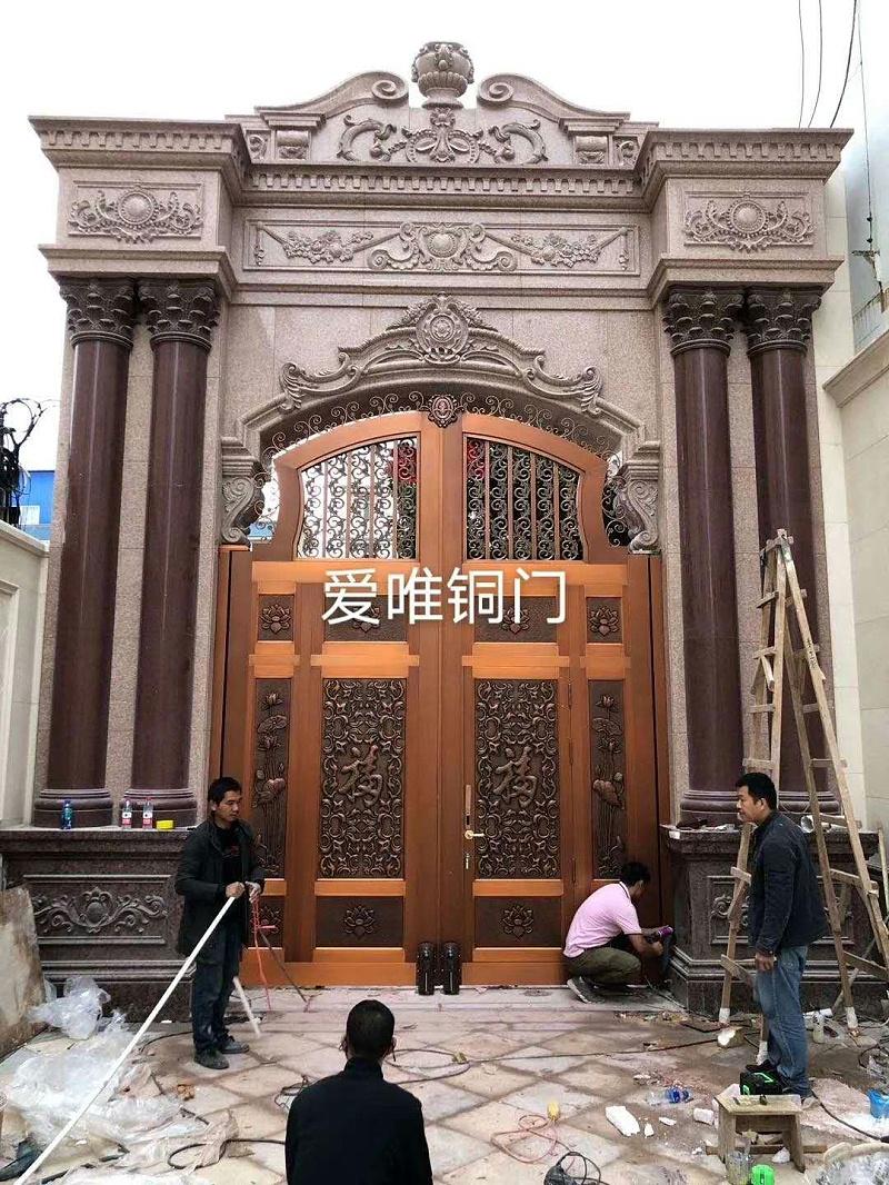 云南别墅庭院铜门 (2)