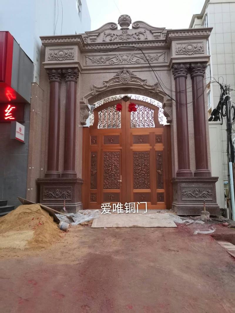 云南别墅庭院铜门 (4)