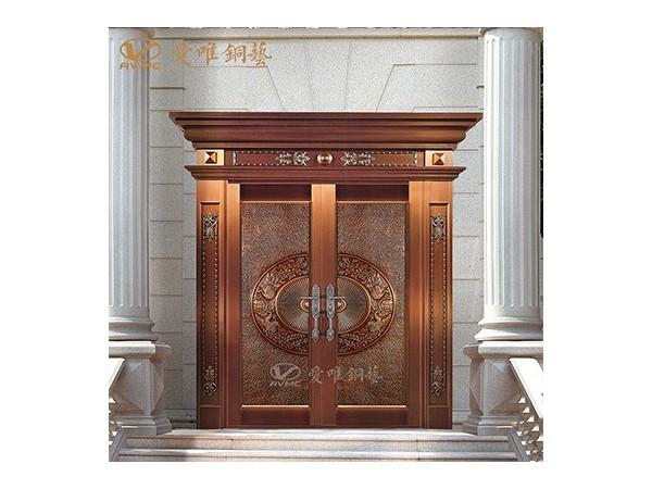 焊接工艺纯纯洛阳紫铜别墅入户大门