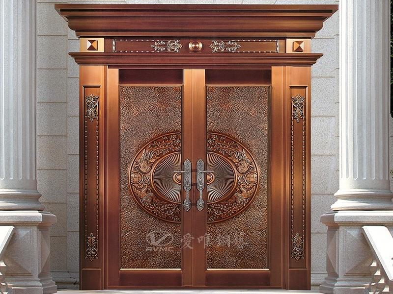 焊接工艺别墅入户铜门