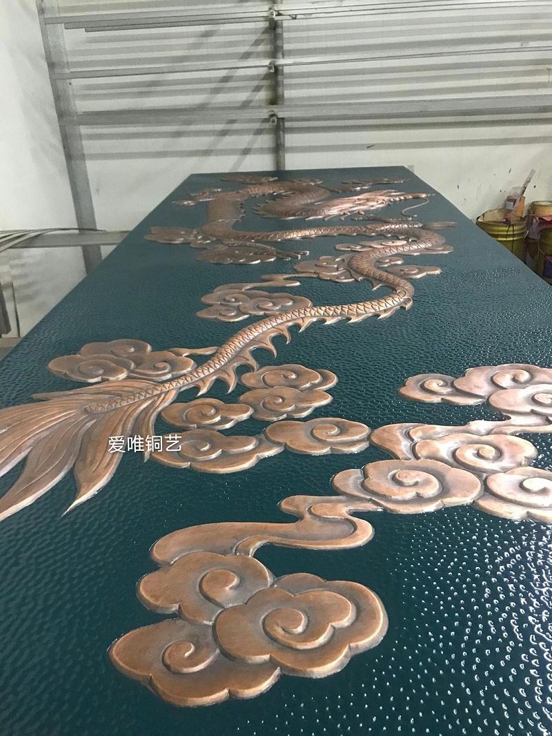铜板雕刻大威天龙 (3)