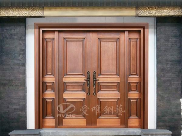 别墅铜门厂家爱唯铜艺——简简单单的铜门款式