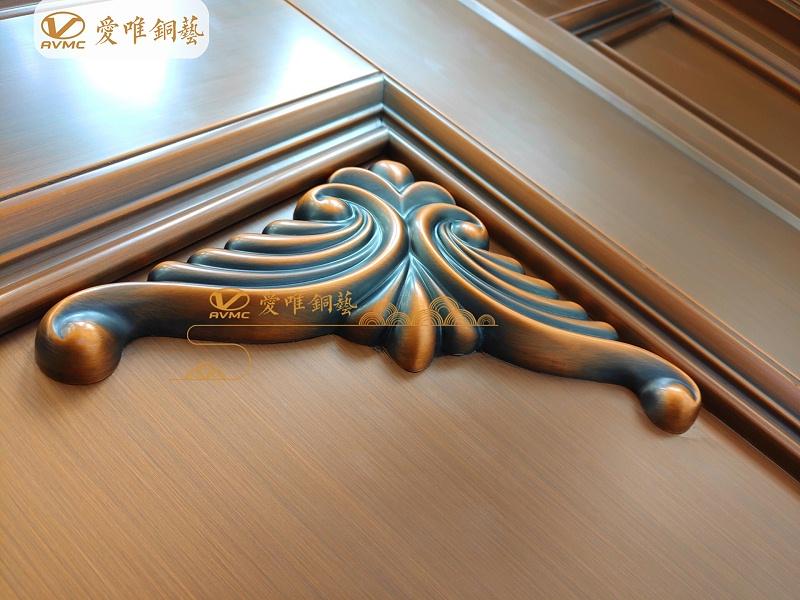 铜门厂家铜花件