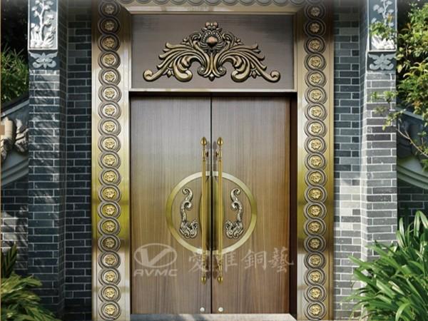 佛山别墅铜门厂家爱唯铜艺用良心做好门