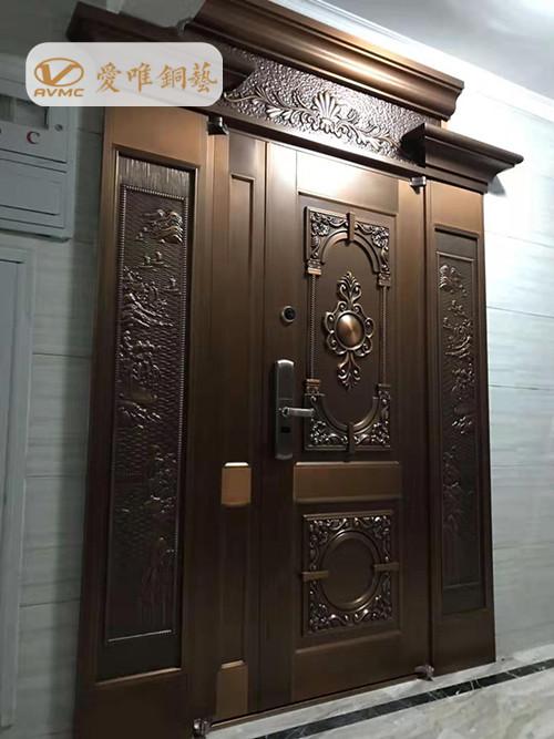 别墅真铜门