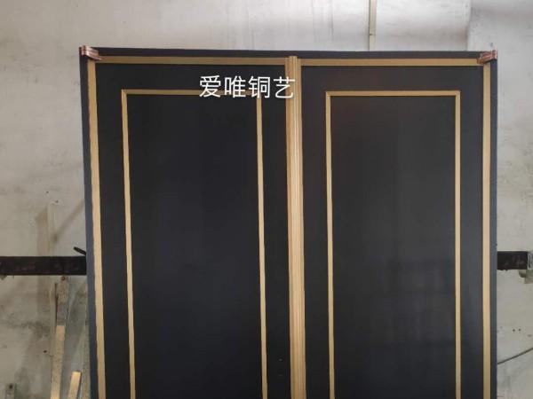 爱唯铜艺铜门厂家焊接工艺铜门新中式铜门