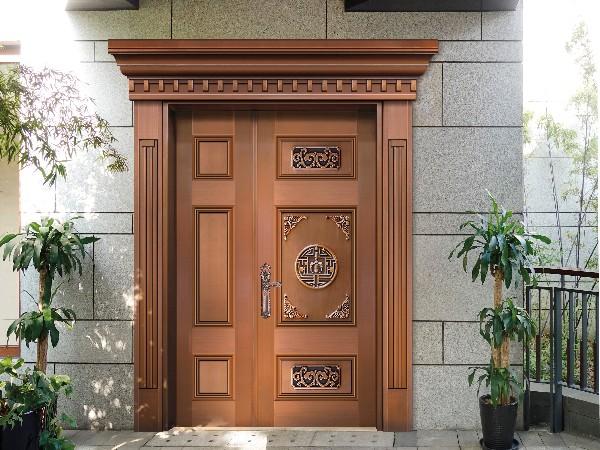 铜门厂家爱唯铜门的别墅铜门