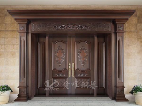 佛山铜门厂家爱唯铜艺设计和生产客户想要的产品