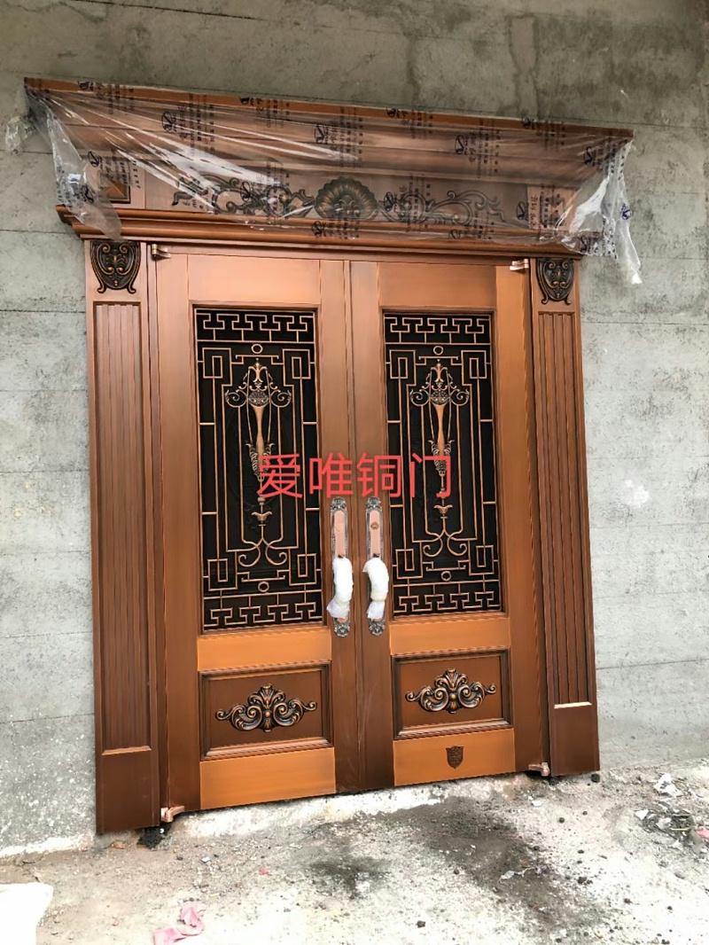 广东别墅铜门案例 (1)