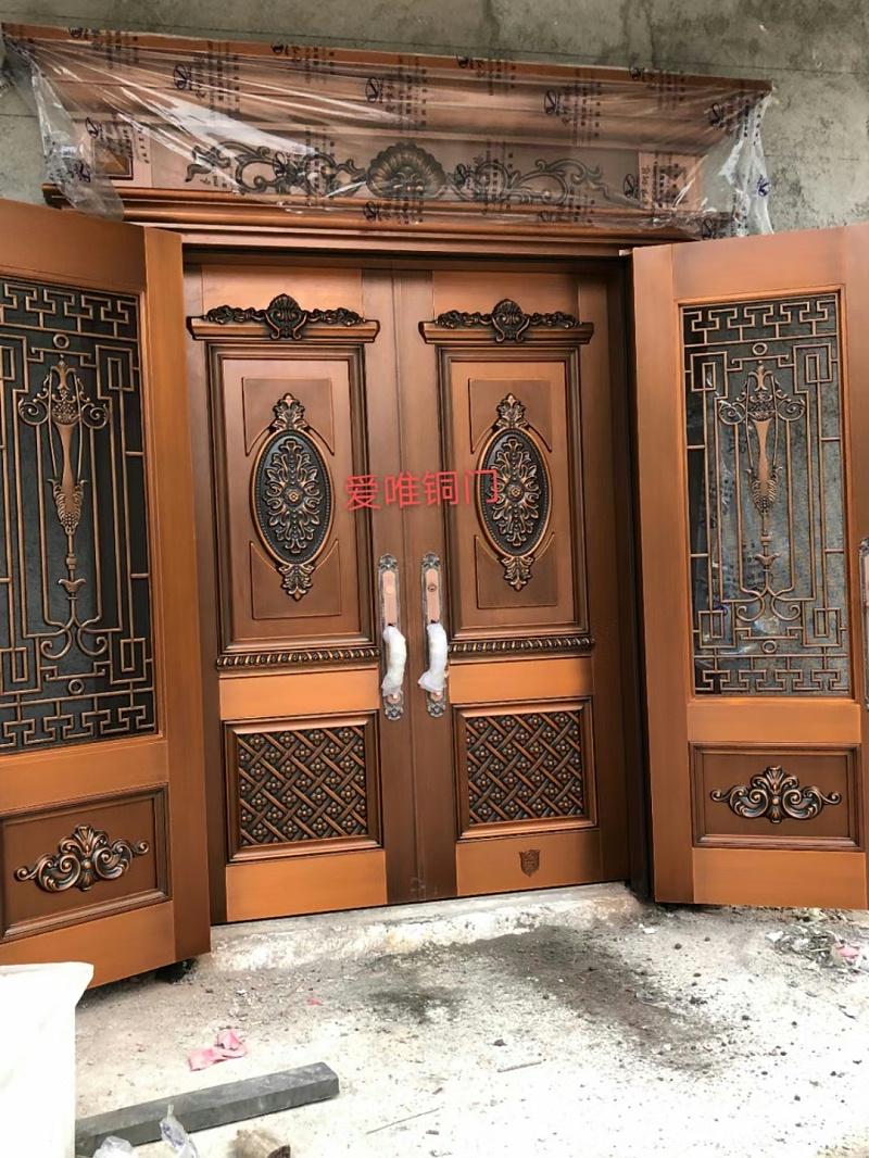 广东别墅铜门案例 (2)