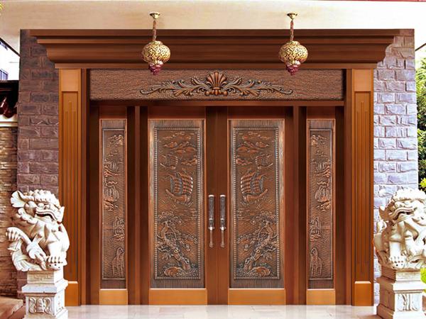 为什么越来越多有成就的人别墅豪宅入户大门首选都是铜门呢?