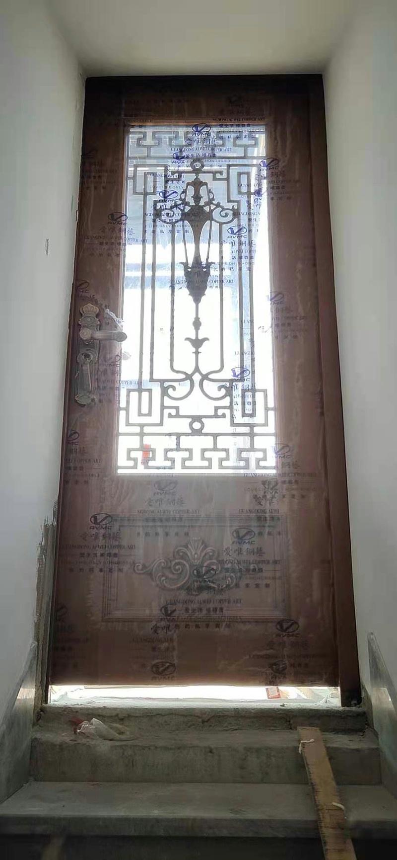别墅入户铜门 (4)