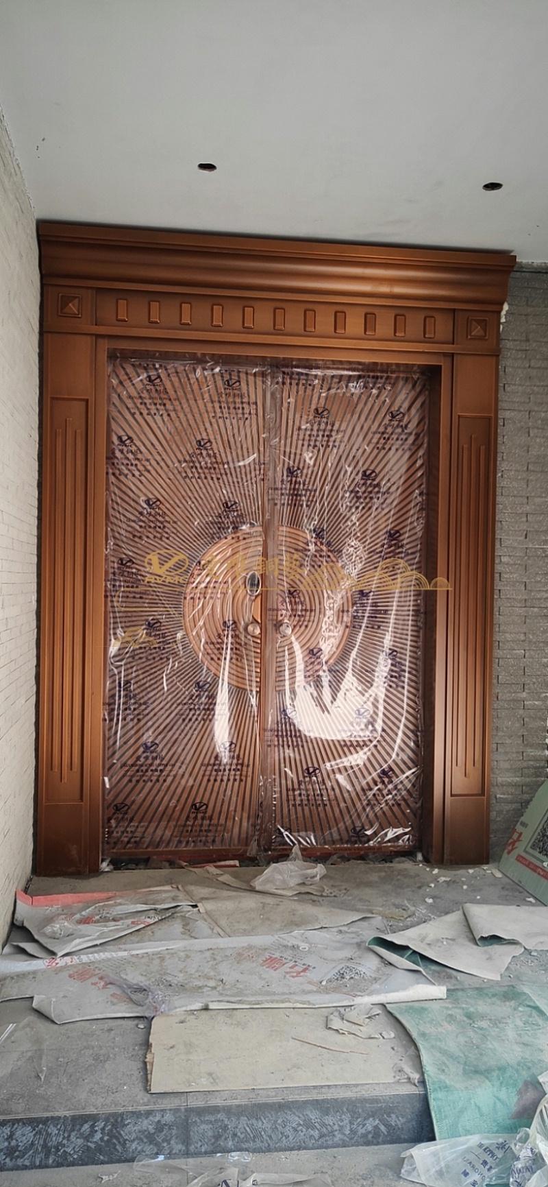 别墅入户铜门 (1)