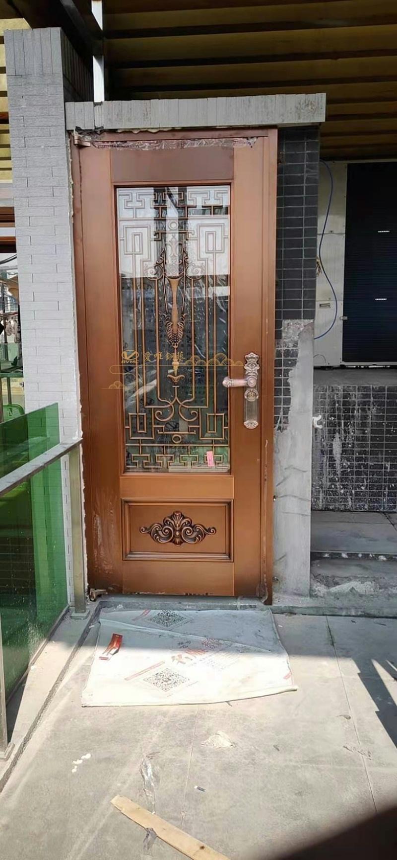 别墅入户铜门 (3)