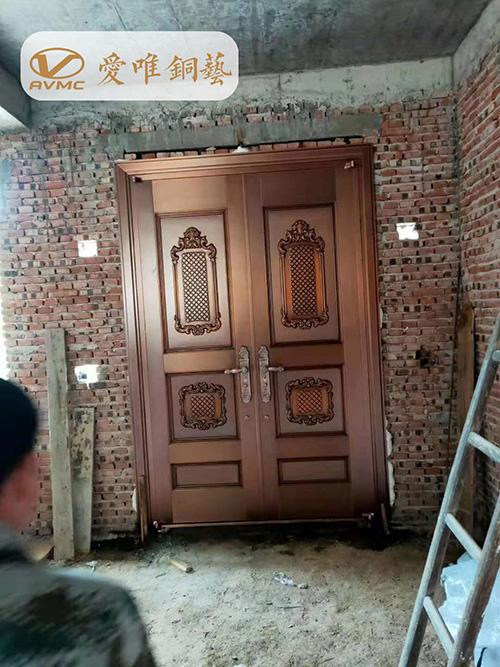 高端别墅入户铜门