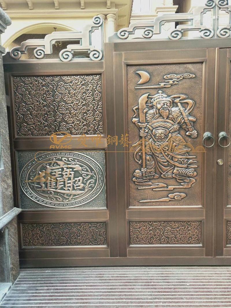 清远庭院铜门 (1)