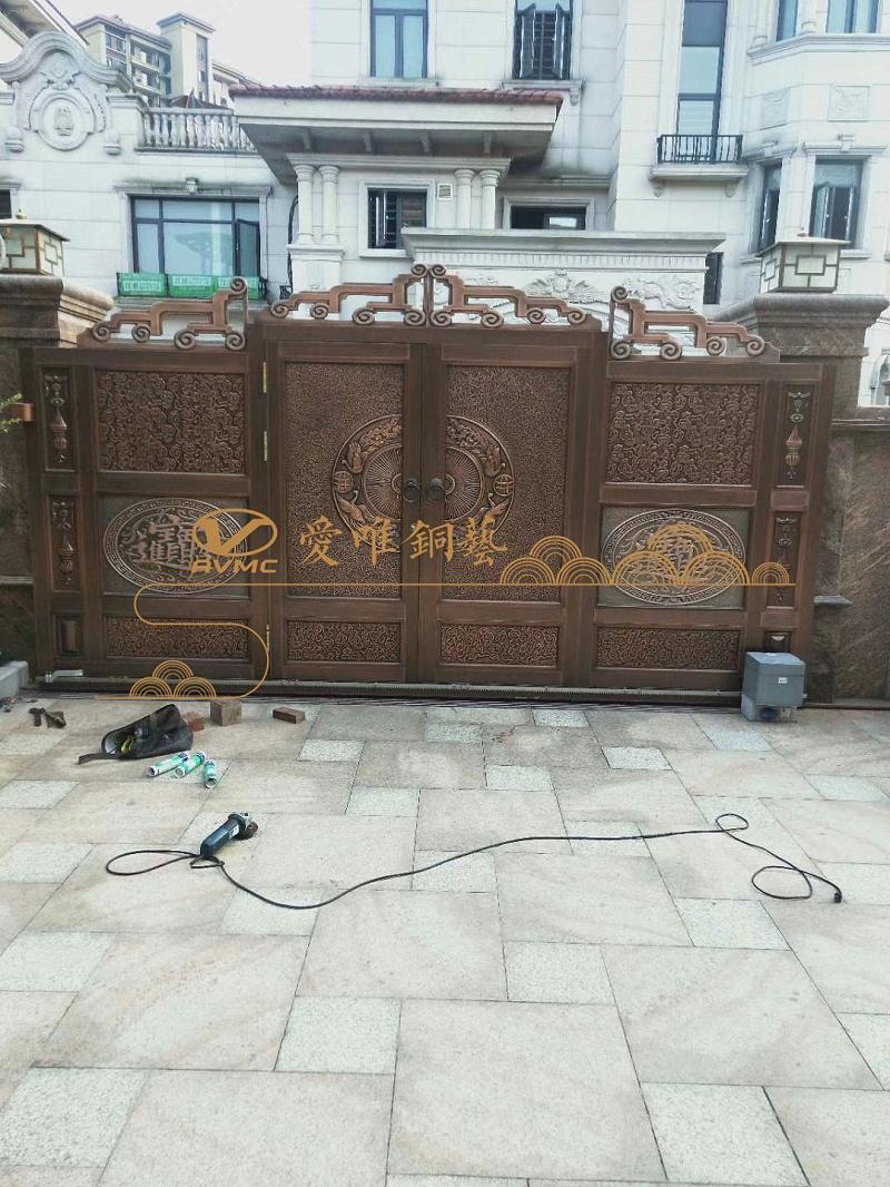 清远庭院铜门 (4)