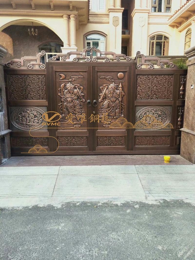 清远庭院铜门 (5)