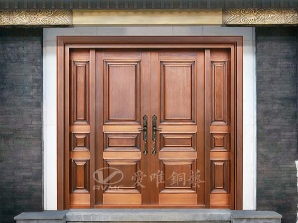 广东铜门厂家爱唯铜艺专注于家装别墅铜门的消费群体