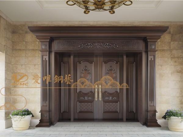 为什么总是说定制铜门有很多优点?
