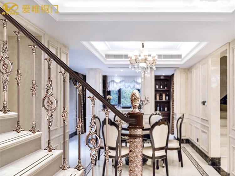 爱唯铜艺-铜楼梯