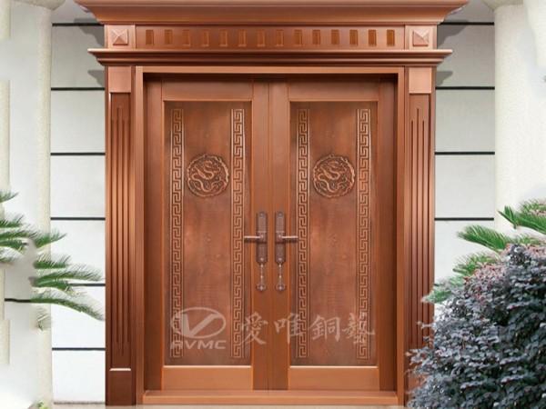 广东别墅铜门厂家设计的别墅铜门