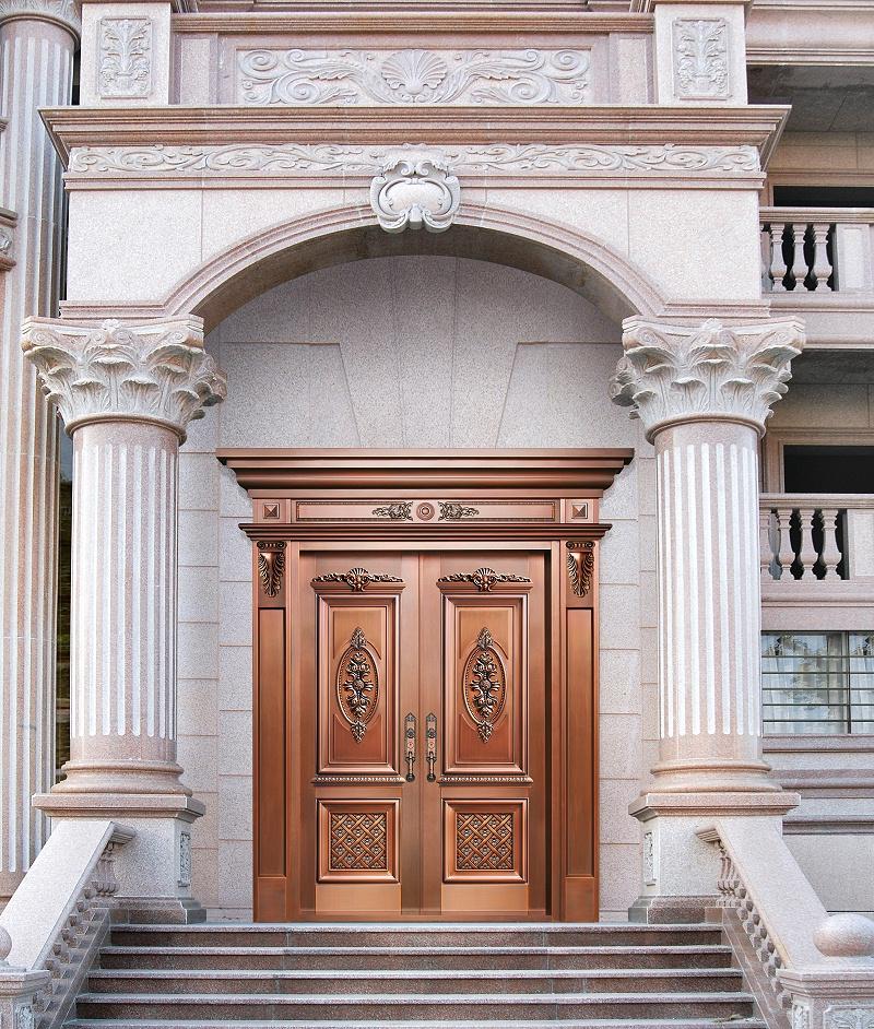 爱唯铜门对开门-银马郡邸
